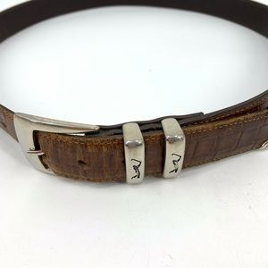 PGA Tour mens leather belt brown silver buckle 36